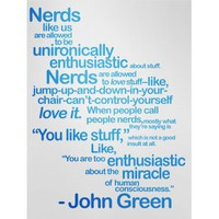 DFTBA Records :: Nerds Like Us Poster- Blue
