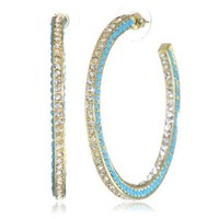 Amrita Singh Resin and Crystal Hoop Earrings - designer shoes, handbags, jewelry, watches, and fashion accessories | endless.com