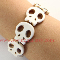 Day of the death, white skull bracelet