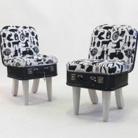 Suitcase Chair  Farmyard Pair  Seating  Recreate