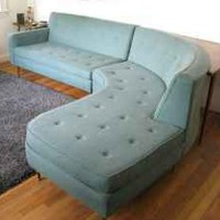Milo Baughman Teal Sectional - $2,200 Boston Scavenger | Apartment Therapy Boston