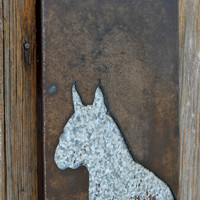 SALE  Metal Dog Silhouette