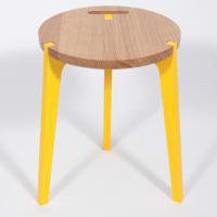 YELLOW CANNE STOOL