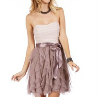 Champagne Cascade Homecoming Dress