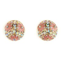 Disco Flower Stud Earrings: Charlotte Russe