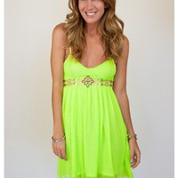 The Bold &amp; Beautiful Neon Dress - Dresses - Apparel | Sugar and Sequins