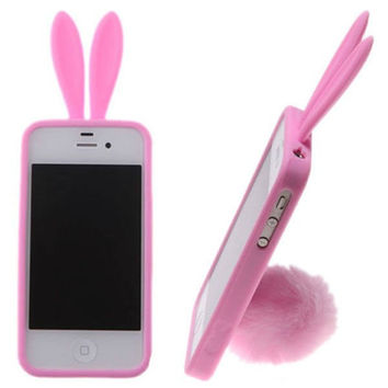 Bunny Baby Iphone 5/5S Phone Case- Pink - Pink