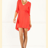 Gather Round Hi-Lo Dress