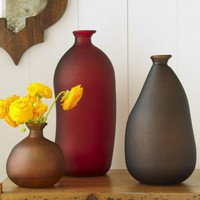 Recycled Jewel-Tone Bottle Vases - VivaTerra