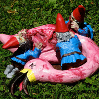 Zombie Gnomes Bye Bye Birdie by ChrisandJanesPlace on Etsy