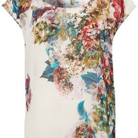 Hyacinth Floral Tunic Tee - Tees &amp; Tunics - Tops  - Clothing