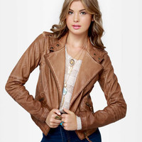Black Sheep Heart Jacket - Brown Jacket - Moto Jacket
