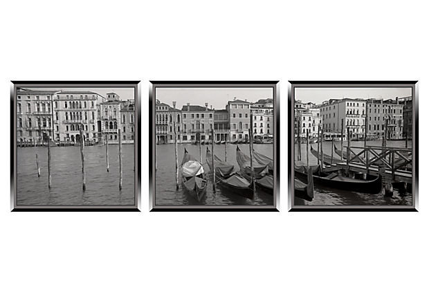 One Kings Lane - In Black & White - Memories of Venice Triptych