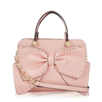 Betsey Johnson Bow Regard Small Satchel at Von Maur