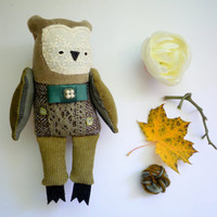 Mauro  - Little  owl, soft art  toy  by Wassupbrothers