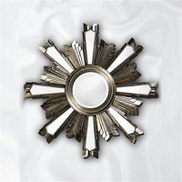 Howard Elliott Jacob Wall Mirror in Antique Silver Leaf | CSN Stores