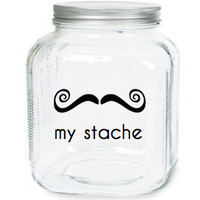 My Stache Jar The Rollie Fingers Mustache by olivetreemonograms