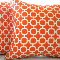 Mandarin orange pillow cover 16 x 16