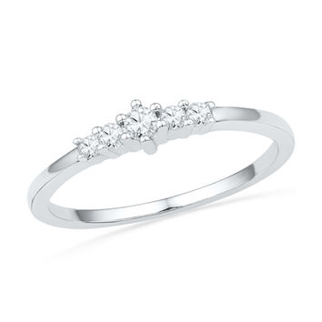 1/7 CT. T.W. Diamond Five Stone Promise Ring in 10K White Gold