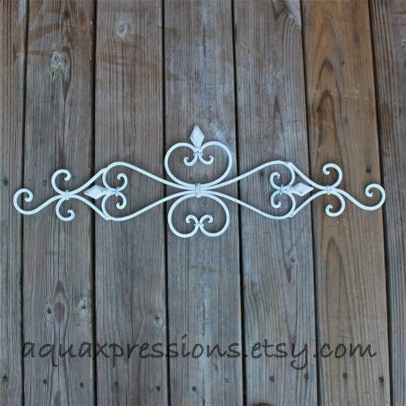Distressed Metal Wall Decor : Metal wall fixture white distressed from aquaxpressions