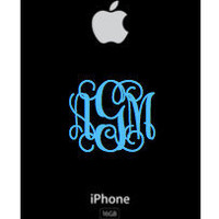 iPhone Monogram 2 inch Decal Ships Fast by olivetreemonograms