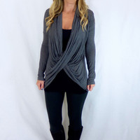Wrap Me Up Top: Charcoal