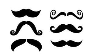 Mustache Decals for Apple Macbook set of 6 by olivetreemonograms