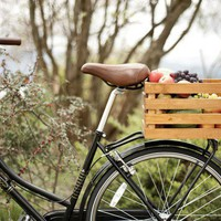 Wood Bike Basket by abasketfull on Etsy