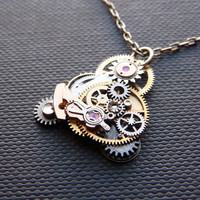 Clockwork Pendant One Hundred Eighty Three by amechanicalmind