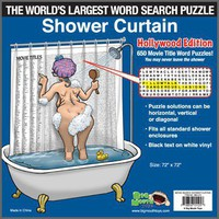 The World's Largest Word Search Puzzle Shower Curtain - Whimsical & Unique Gift Ideas for the Coolest Gift Givers