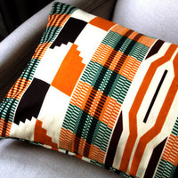 Summer Kente Home Style Lumbar pillow cover - 12 x 22 inches