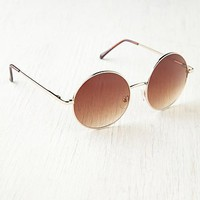 Free People Metal Round Glasses