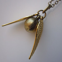Of Wizards and Witches Necklace in Antique Gold Finish
