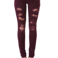 Almost Famous Destructed Skinny Jean
