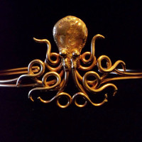 Bronze Octopus Upper Armband