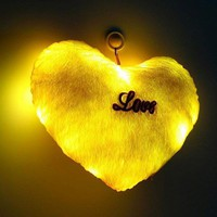 Huggable Glowing Heart-Shaped Throw Pillow