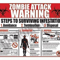 3 Zombie Attack Warning Postcards by horrorbelle on Etsy