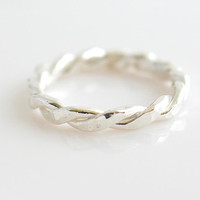 Fine Silver Ring - Stacking Ring - Silver Ring