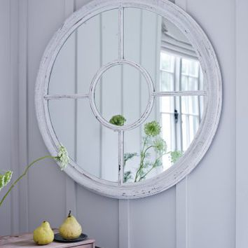 White Window Mirror  NEW - NEW - Decorative Home