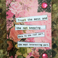 Her interesting Life Self Help Altered Art Card Gift Idea Philosophical