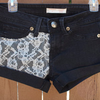 Lace Black Shorts