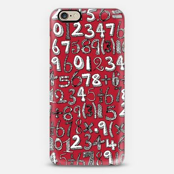 MATH DOODLE RED phone case ~ get $10 off using code: 5A7DC3