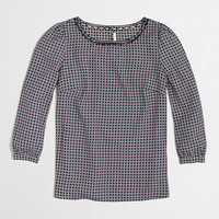 Factory scalloped-collar top in geometric dot : The More is More Event for Women | J.Crew Factory