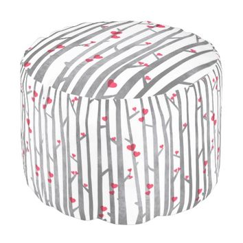 Romantic Forest Round Pouf