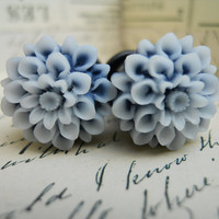 Flower Plugs-Navy Blossoms-pick your size-fits up to 1/2g 12mm