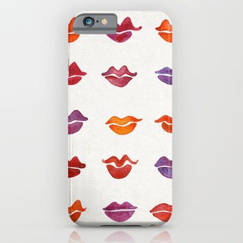 Watercolor Kisses iPhone & iPod Case by Cat Coquillette