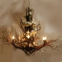 Custom Design Branch and twig Chandelier by jessedirk on Etsy
