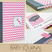 Baby Book - Pink Chevron (125 Desig.. on Luulla
