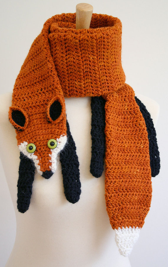 PDF Pattern for Fox Scarf  Crochet Pattern  by beeskneesknitting