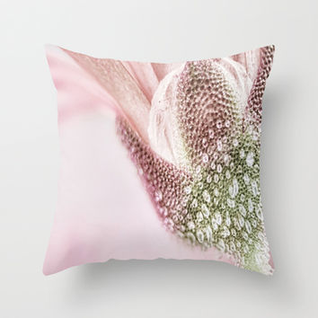 Pink Daisy Diamonds Throw Pillow by 2sweet4words Designs